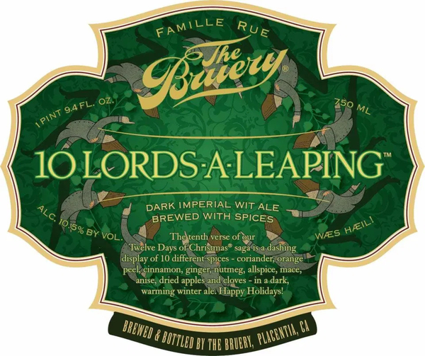 The bruery 10 lords a leaping